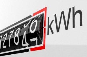 Der Stromzähler zählt Kilowattstunden